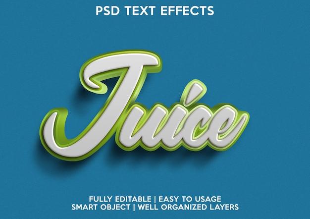 Juice text effect
