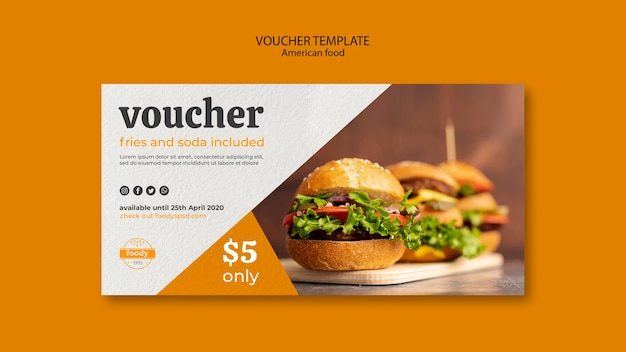 Juicy burger week voucher template