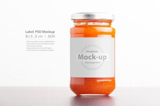 Juicy homemade carrot jam in glass jars
