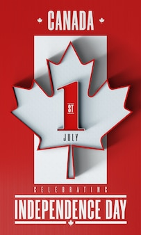 July 1 celebrading the day of independence in canada - editable