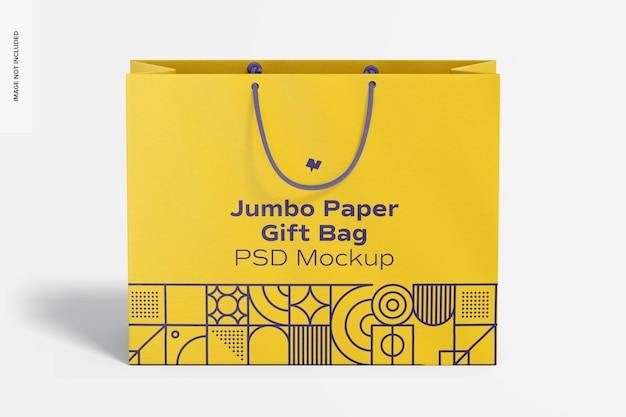 로프 핸들 모형이있는 점보 종이 선물 가방