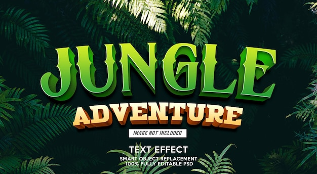 Jungle adventure text effect template