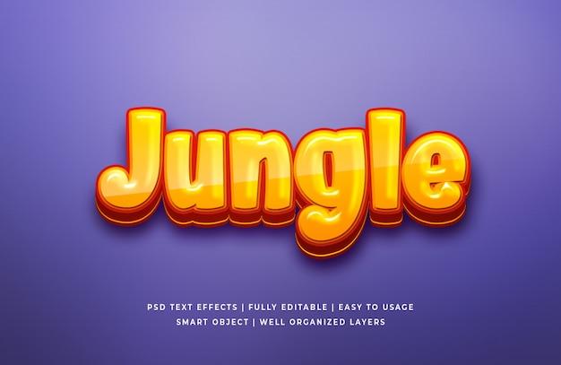 Текстовый эффект джунглей