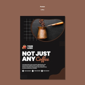 Not just any coffee poster template