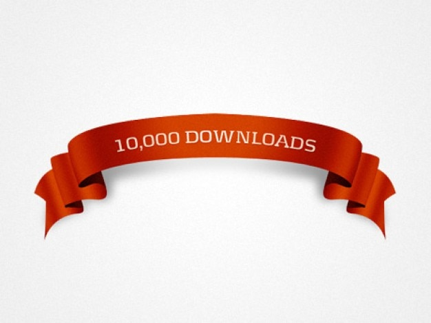K downloads ribbon