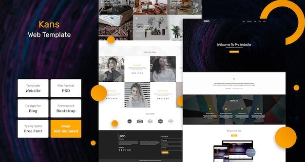 Шаблон веб-страницы портфолио канса