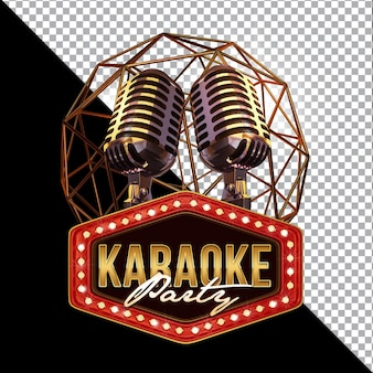 Karaoke 3d render composition isolated