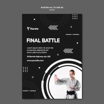 Karate class ad poster template