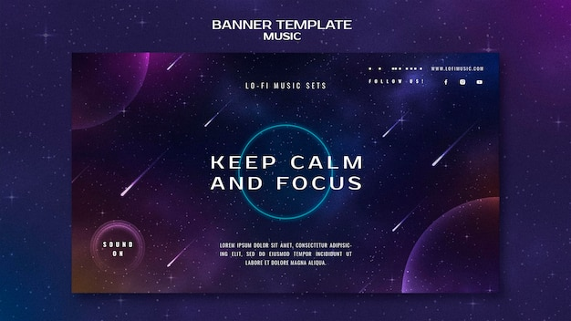 Keep calm and focus banner template
