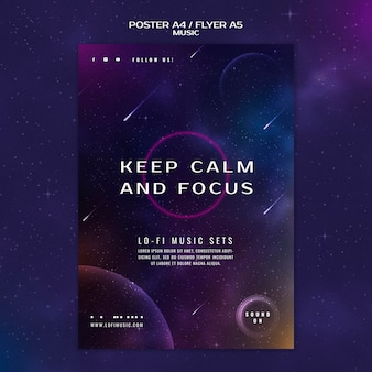 Keep calm and focus poster template