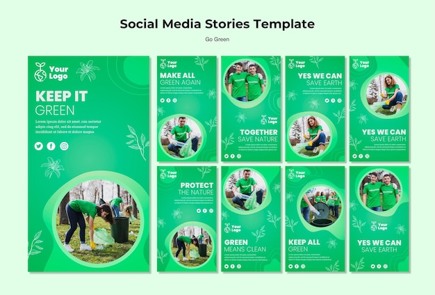 Keep it green social media stories template