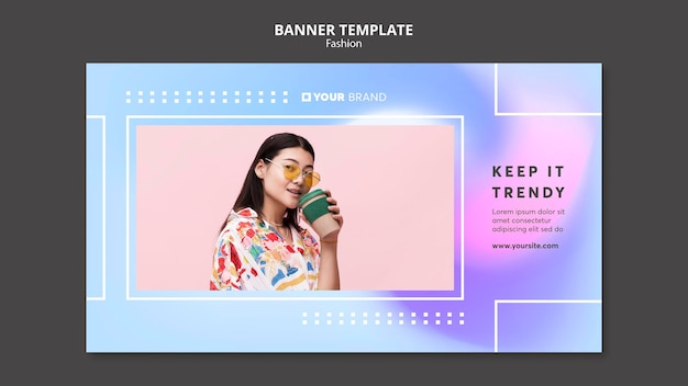 Keep it trendy fashion banner template