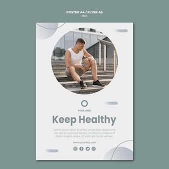 Keep yourself healthy flyer template