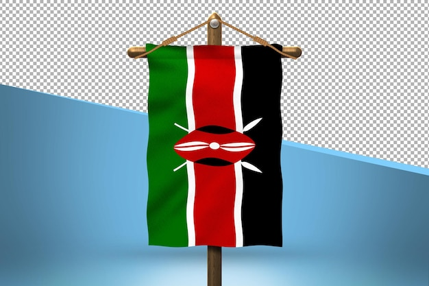 Кения повесить флаг дизайн фона