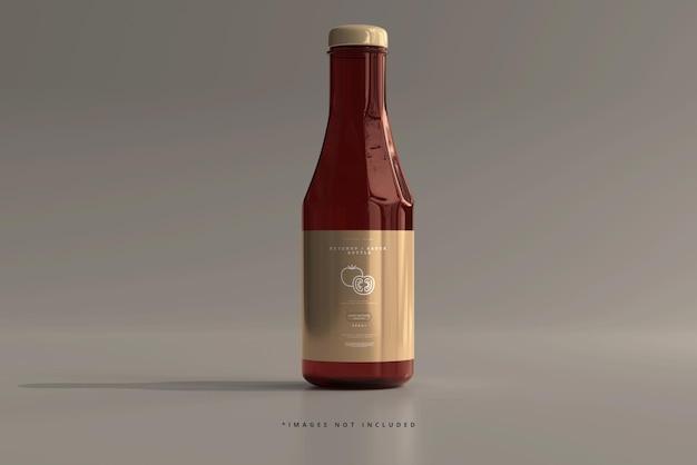 Ketchup or sauce bottle mockup