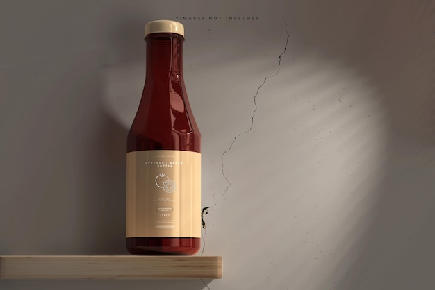 Ketchup o bottiglia di salsa mockup