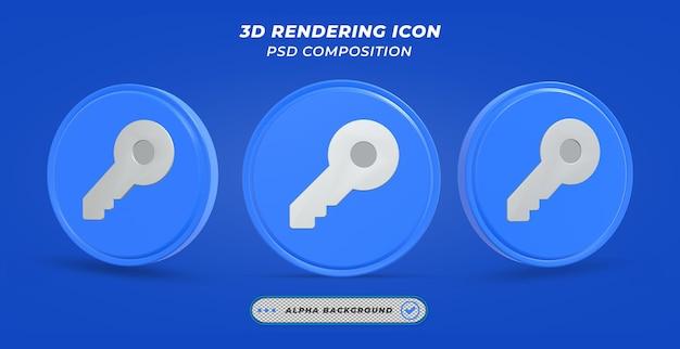 Значок ключа в 3d-рендеринге