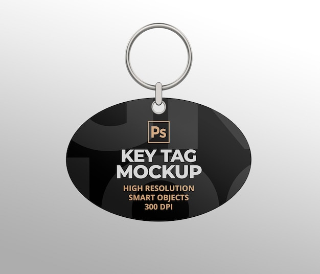 Key tag mockup for branding and advertising presentations