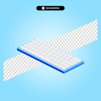 Клавиатура 3d визуализации изолированных иллюстрация