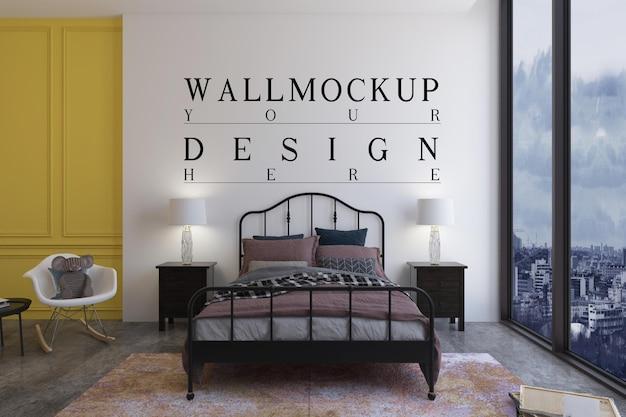 モックアップデザインの壁と子供の寝室