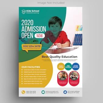 Kids education flyer template