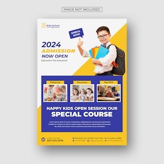 Kids education school admission flyer
