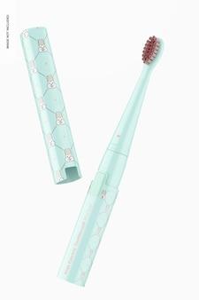 Mockup di spazzolino elettrico per bambini, galleggiante Psd Gratuite