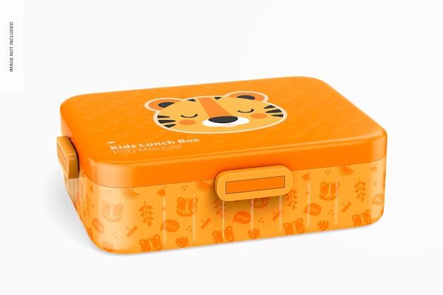 Kids lunch box mockup