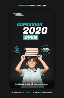 Kids school education admission instagram story template