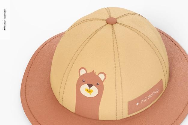 Детский мокап шляпы от солнца, крупным планом