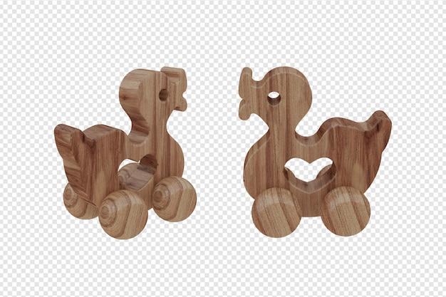 Детская игрушка 3d рендеринг утка