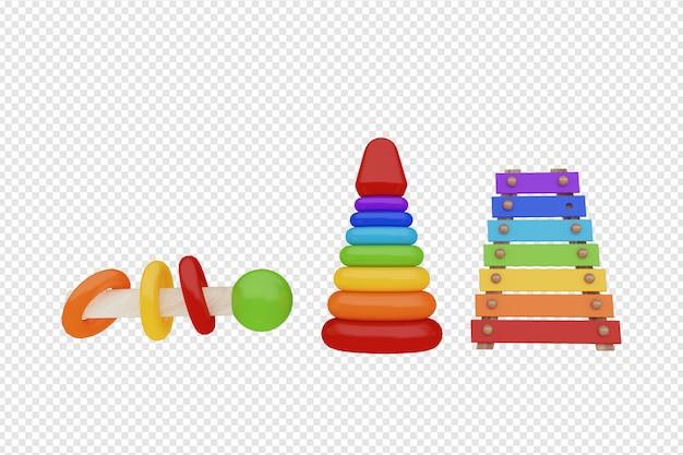 Детская игрушка 3d-рендеринга