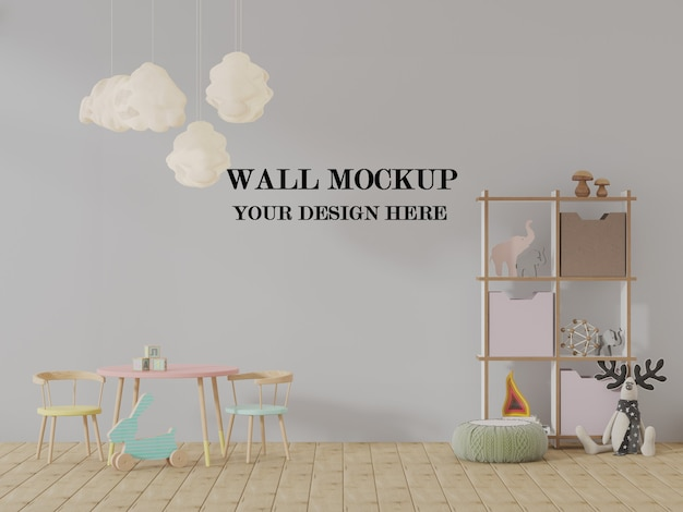 Макет стены детского сада 3d-визуализация