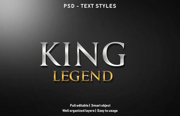 王の伝説のテキスト効果