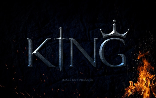 King psd text effect mockup