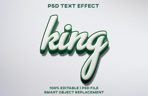Король текст эффект