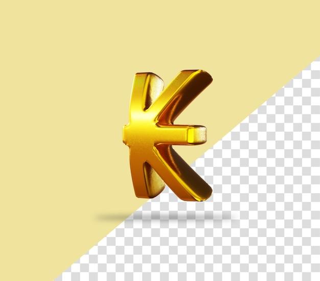 Кип знак золотой значок рендеринга