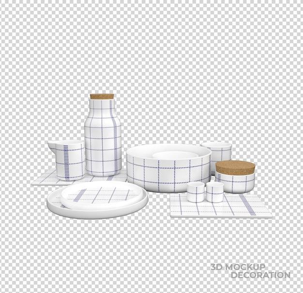 分離されたキッチンアクセサリーの装飾