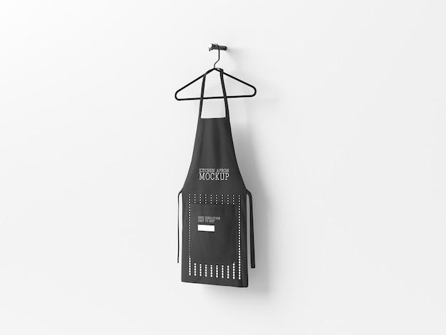Kitchen apron hanging mockup