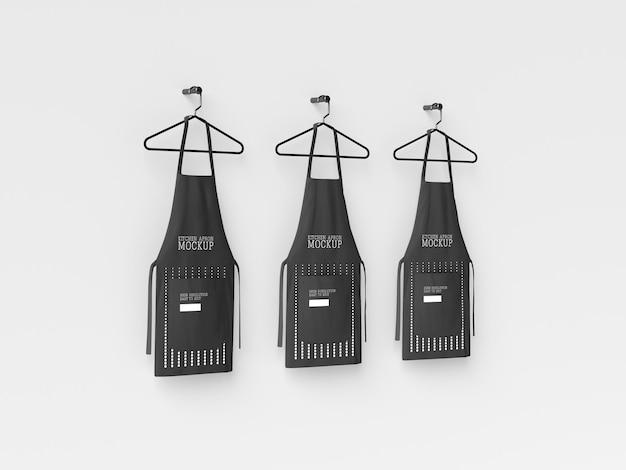 Grembiule da cucina hanging mockup