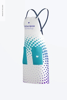 Kitchen apron mockup, right side view
