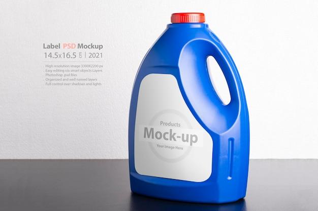 Kitchen detergent bottle mockup
