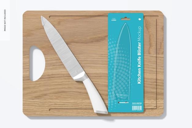 Coltello da cucina blister mockup