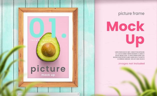 Kitchen picture frame mockup
