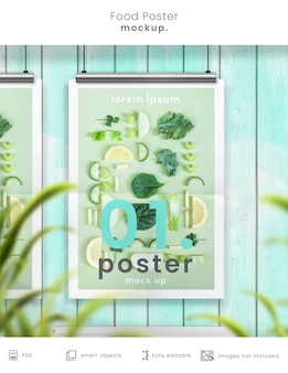 Kitchen poster mockup rendering