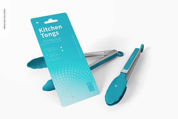 Mockup di pinze da cucina