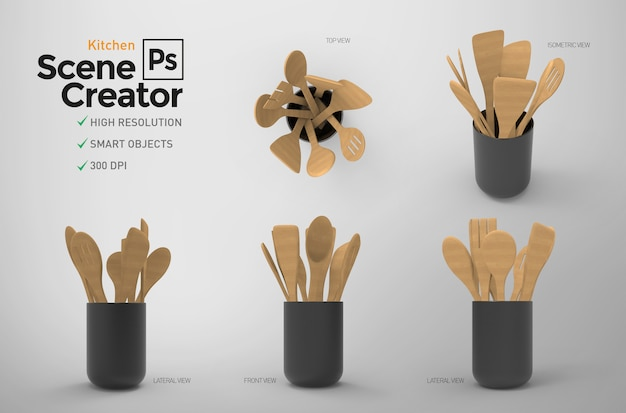 Kitchen tools. scene creator.   resource.    .