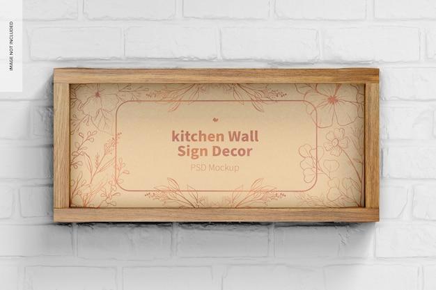 Mockup di decorazione per cartello da parete per cucina, vista frontale