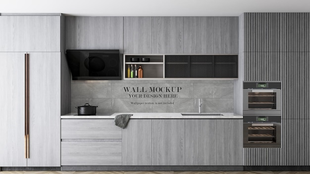 Kitchen wall surface mockup