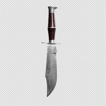 흰색 배경 위에 칼